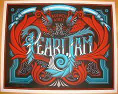 2011 Pearl Jam - Buenos Aires Concert Poster by Brad Klausen AP