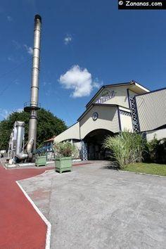 Les rhums Depaz à Saint-Pierre dans le nord de la Martinique. Une des plus anciennes distilleries de l'île.