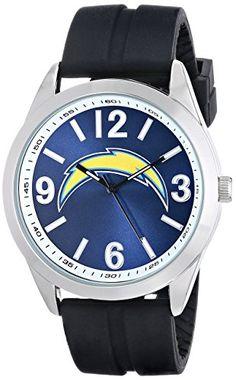 Los Angeles Chargers Game Time Men s NFL-VAR-SD Varsity Analog Display  Japanese Quartz Black Watch caa61177b