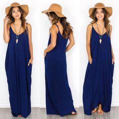 Love Stitch Ocean Blue Maxi Dress #LoveStitch #Maxi