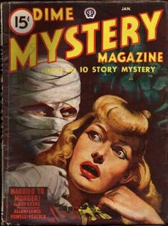Dime Mystery Magazine cover @ Pulp Gallery