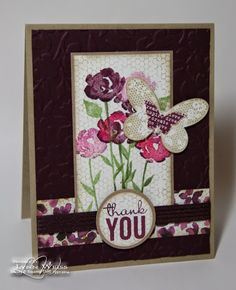 LW Designs: Stampin' Up! Painted Petals With Butterfly Basics