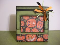 35 x 5 halloween pumpkin picture frame by twopreciouscreations 1500