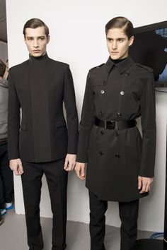 jacquard & cinnamon rolls — Dior Homme AW13, Backstage