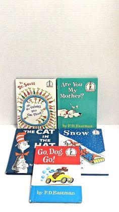 Vintage Dr Seuss book collection instant by TheAntiqueFarmhouse