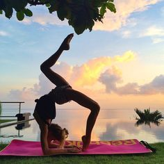 """""""There is no magic cure, no making it all go away forever. There are only small steps upward; an easier day, an unexpected laugh, a mirror that doesn't matter anymore."""" - Laurie Halse Anderson Morning yoga on @activeescapes"""
