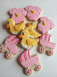 baby shower cookie set       The Liz Cookies