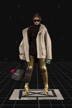 Balenciaga Fall 2021 Ready-to-Wear Fashion Show Collection: See the complete Balenciaga Fall 2021 Ready-to-Wear collection. Look 26 Fashion Week, Pop Fashion, Paris Fashion, Mens Fashion, Runway Fashion, Fashion 2020, Fashion Trends, Fashion Outfits, Vogue Paris