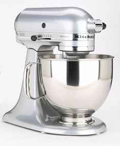 KitchenAid ~ Okay.... I love this! I think everyone should have one you just throw stuff in and let it mix walk away to grab something chunk more in! Love it! Plus it has all these add ons for other things like pasta! Heavy Duty! Love Mine!