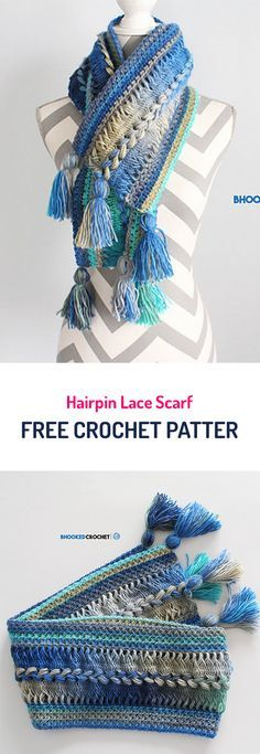 Hairpin Lace Scarf Free Crochet Pattern #crochet #style #fashion #crafts #yarn