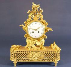 OnlineGalleries.com - French Ormolu Mantel Clock