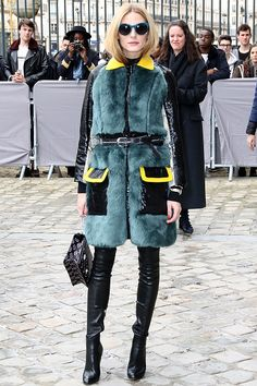 Olivia Palermo attends the Christian Dior show as part of the Paris Fashion Week Womenswear Fall/Winter 2016/2017 on March 4, 2016 in Paris, France. #OliviaPalermo #PFW #ChristianDior #Dior