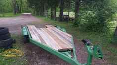 Old boat trailer,,I turned into a utility trailer with scrap lumber