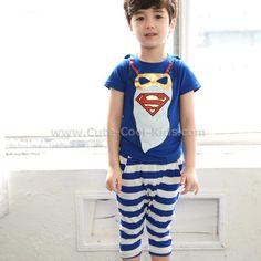 ชุดเสื้อเด็ก+กางเกง Super Hero S. 100 110 120 130 140