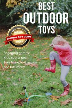 BEST OUTDOOR TOYS FOR KIDS - Such a great list of toys to get kids outside and being active in good weather or bad! Best Outdoor Toys, Outdoor Toys For Kids, Outdoor Fun, Outside Toys For Kids, Outdoor Gear, Sports Toys, Kids Sports, Kindergarten, Parents