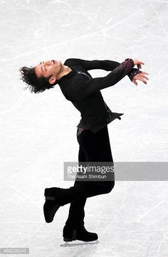 Daisuke Takahashi competes in the Men's Short Program during the day one of the 82nd All Japan Figure Skating Championships at Saitama Super Arena on...