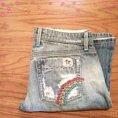 "❗️Sale❗️Joe's Jeans Rainbow Runs small! I would consider the fit closer to a 27 even though the tag states 28. Bring it back with Joe's Vintage Series 1971 Rainbow Thick Stitch Jeans! Tons of detail! Very little stretch, thick denim. Adorable! 100% Cotton 28.5"" Altered Inseam   Need any other information? Measurements? Materials? Feel free to ask! Don't be shy, I always welcome reasonable offers! Fast shipping! Same or next day! Sorry, no trades!   Happy Poshing!☺️ Joe's Jeans Jeans"
