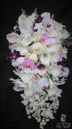 Artificial real touch flowers tMade to order tProduction time weeks Orchid Bridal Bouquets, Lily Bouquet, Bride Bouquets, Flower Bouquet Wedding, Hosta Flower, Spring Wedding, Orchids, Wedding Gowns, Touch