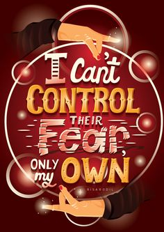 'I can't control their fear, only my own' quote by Scarlet Witch | Avengers