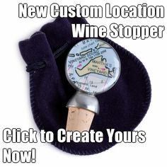 Submit your city & state to create your own custom map wine stopper. A beautiful way reminder a favorite place or memory.