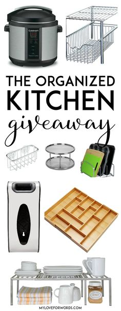 HUGE GIVEAWAY!! Get all of the organizing essentials for creating a functional and organized kitchen where every item has its place. Perfect giveaway to win before the crazy holiday baking and cooking season!