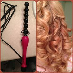 Best iron to use for tight pretty curls: recliners ceramic styling wand. Seriously less than 10 seconds and the hair is curled