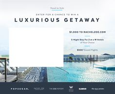 Win a Luxurious Getaway https://www.popsugar.com/fashion/Win-Luxurious-Getaway-43246566?utm_campaign=desktop_share&utm_medium=twitter&utm_source=fabsugar via @POPSUGARFashion #giveaway