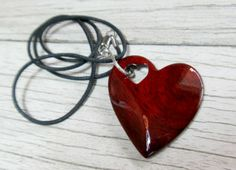 Wooden Heart Necklace – South American Bloodwood