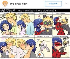 Find images and videos about miraculous ladybug, ladynoir and marichat on We Heart It - the app to get lost in what you love. Lady Bug, Ladybug E Catnoir, Comics Ladybug, Bugaboo, Marinette Et Adrien, Catty Noir, Miraculous Ladybug Fan Art, Miraculous Ladybug Kiss, Kids Shows