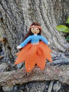 Orange Princess Doll  Waldorf Bendy Doll  by WildflowerInnocence