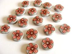 Craft set of hand made polymer clay beads by jewelryfimo on Etsy, $4.00