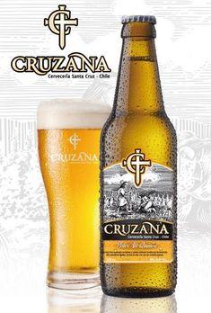 Cerveja Cruzana Pale Ale, estilo Specialty Beer, produzida por Cervecería Santa Cruz, Chile. 5% ABV de álcool.