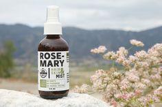 100% Plant-Based Organic Rosemary Skin & Hair Mist.