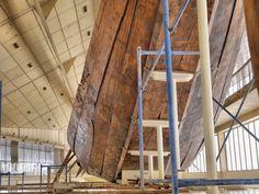 Bottom of Khufu Ship at the Khufu Solar Boat Museum in Giza