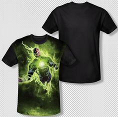 Green Lantern Inner Strength Energy Ring All Over Front Sublimation T-shirt Top Mens Sizes: S, M, L, XL, 2XL, 3XL