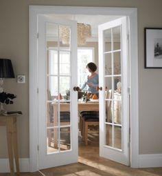Resultado de imagen de white double doors with glass