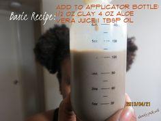 Rhassoul Clay wash recipe - October 12 2019 at Natural Hair Recipes, Natural Hair Tips, Natural Hair Journey, Be Natural, Natural Hair Styles, Rhassoul, Curling Iron Hairstyles, Hair Addiction, Natural Haircare
