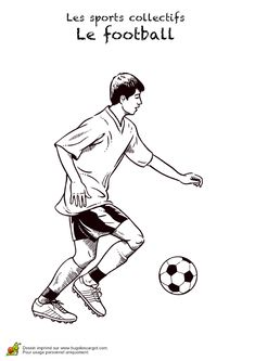 Dessin d'un joueur  qui s'entraine au foot