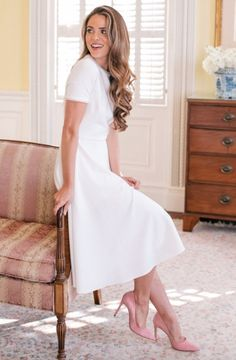 Victoria Pearly Trim Fit & Flare Dress GAL MEETS GLAM COLLECTION Nordstrom Exclusive Free Shipping Tiny, pearlescent beads trace the demure neckline and sleeves of a beautifully tailored fit-and-flare dress, adding to the timeless romance of the style.
