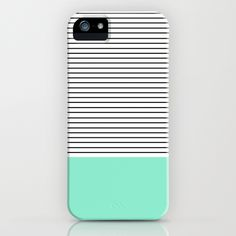 Minimal Mint Stripes #iPhone Case by Allyson Johnson | Society6