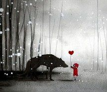 Inspiring image cute, love, heart, blackandwhite, red, boy, girl, wolf #1358749 by nastty - Resolution 500x500px - Find the image to your taste