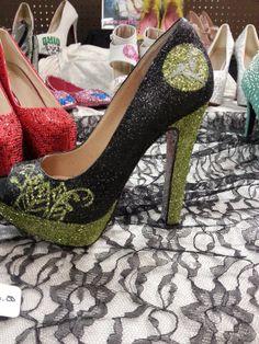 Black green & sparkle bling.