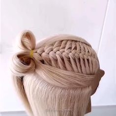 Easy Work Hairstyles, Quick Hairstyles For School, Amazing Hairstyles, Hairstyles Videos, Braided Hairstyles, Curly Hair Styles Easy, Braids For Short Hair, Short Hair Styles, Medium Short Hair