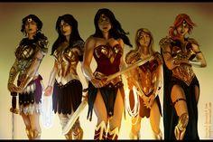 MINARHO1's Wonder Women by duskflare.deviantart.com. Hippolyta, Donna, Diana, Cassie and Artemis.