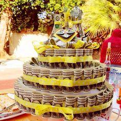 Bridal Shower Gift Ideas Made Of Money Money Birthday Cake, Money Cake, Birthday Presents, Happy Birthday, Money Creation, Creative Money Gifts, Candy Cakes, Gift Cake, Candy Bouquet