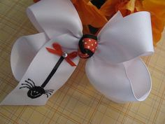 Embroidered Halloween Hair BowItsy Bitsy by belovedbows on Etsy