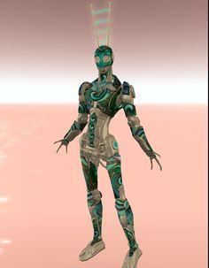 "MERCHANT: Rainy Fey Creations ... PRIZE: Robot Avatar ""Spring"" .... Full mesh one-piece rigged avatar"