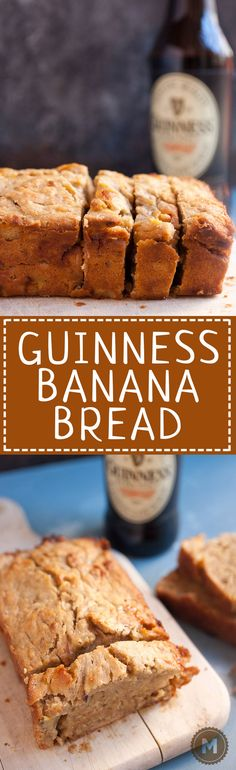Guinness Banana Bread: At some point in your life you'll have bananas on the verge of spoiling and there's no better use than a good banana bread! This one uses Guinness and has white chocolate folded in!   macheesmo.com