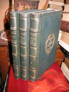 ETUDES GRECQUES SUR VIRGILE  par EICHHOFF 1825 bien reliés aux armes Université