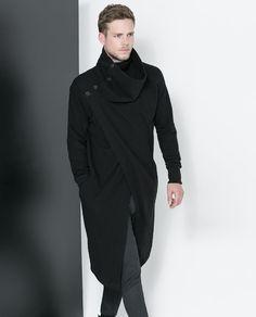 AMAZING mens coat  ZARA - MAN - CROSSOVER CAPE JACKET